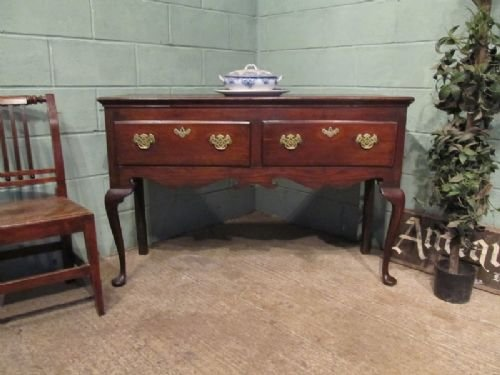 antique georgian oak dresser base sideboard c1780 w6823a272 - photo angle #2