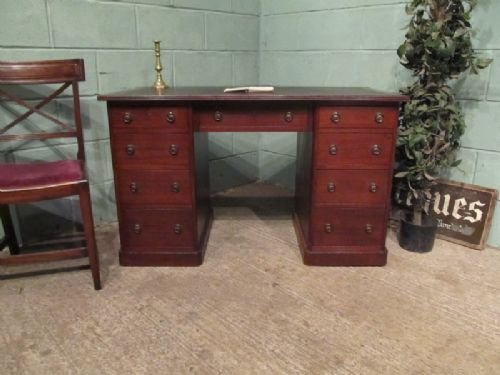 antique late victorian mahogany pedastal desk c1890 w6805272