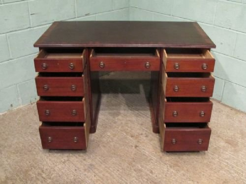 antique late victorian mahogany pedastal desk c1890 w6805272 - photo angle #3