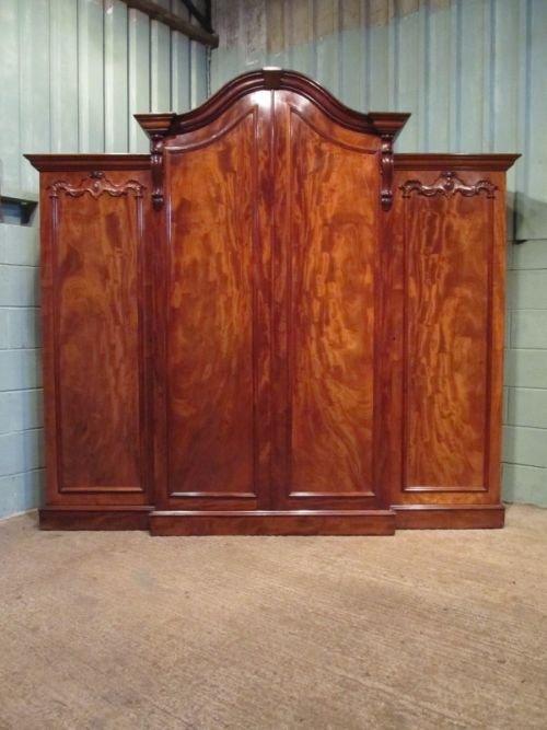 antique william 1v mahogany breakfront triple wardrobe compactum c1830 w6866123