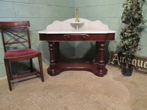 antique victorian marble top duchesse washstand matching dressing table avail