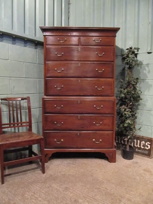 antique georgian country oak chest on chest c1780 w689892
