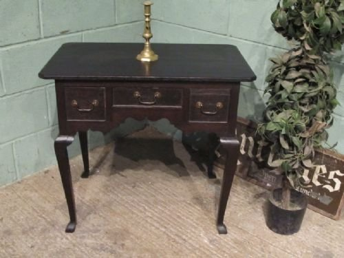 antique georgian country oak lowboy desk c1780 w6433235