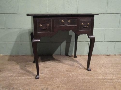antique georgian country oak lowboy desk c1780 w6433235 - photo angle #3