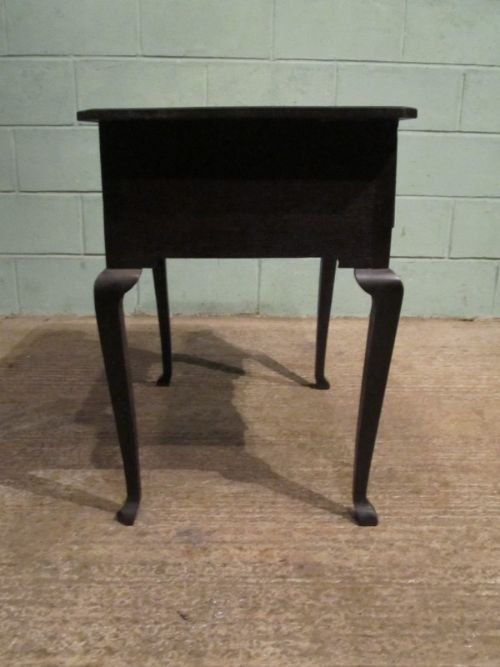 antique georgian country oak lowboy desk c1780 w6433235 - photo angle #4