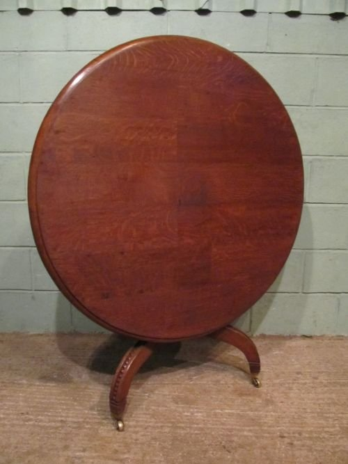 antique william 1v oak tilt top dining table c1830 w6948215