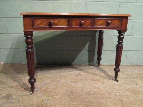 antique victorian mahogany writing desk c1860 w6955285