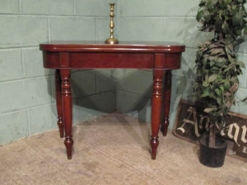 antique victorian mahogany fold over table c1860 w700497