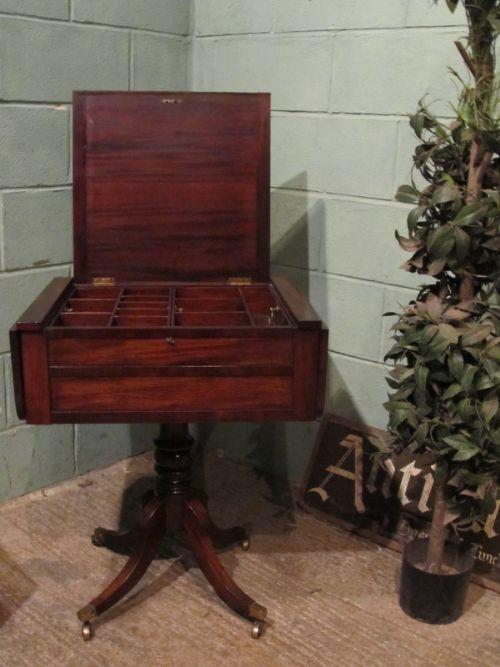 antique regency mahogany drop leaf work table c1820 w7049138