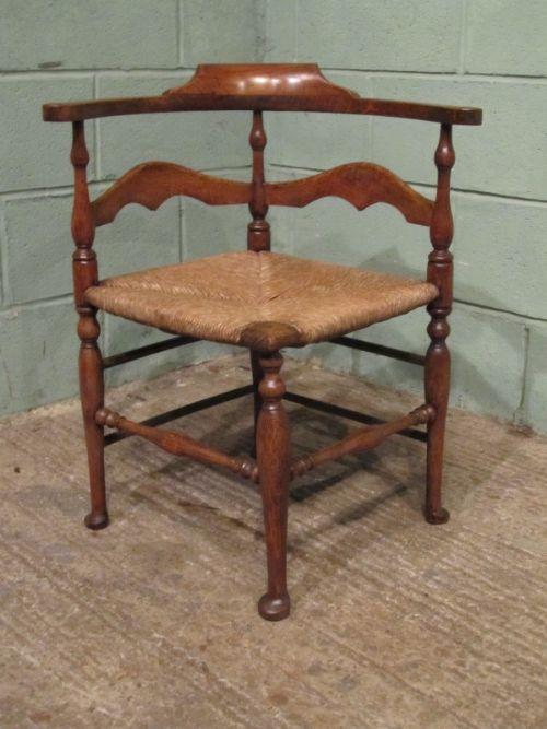 antique georgian country oak corner desk chair c1780 w706838