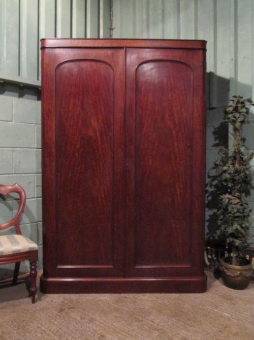 antique victorian mahogany double wardrobe compactum w7074249