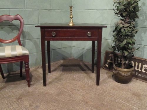antique georgian country oak side table c1780 w7087110