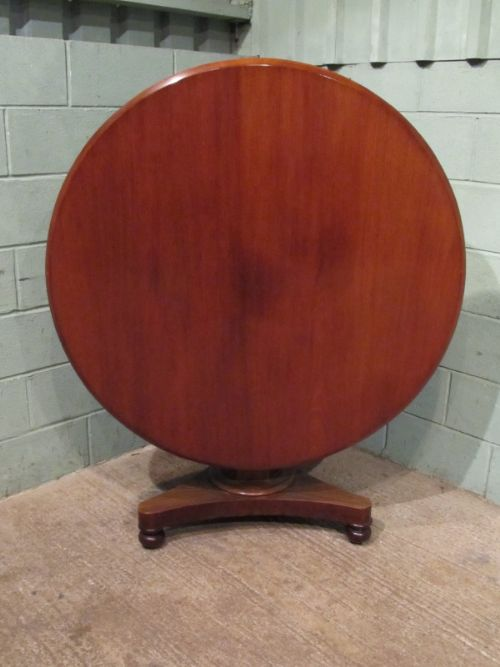 antique victorian mahogany tilt top breakfast dining table c1880 w7094810