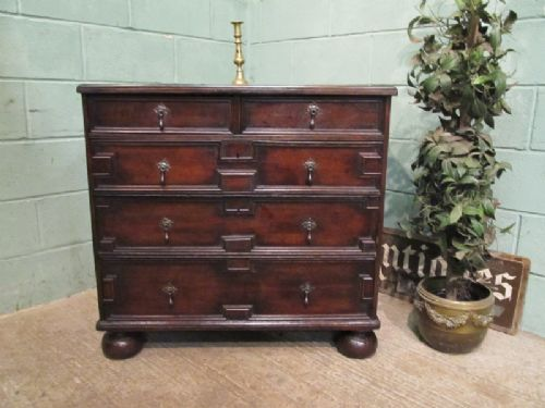 antique 17th century geometric oak chest of drawers c1680 w7095810