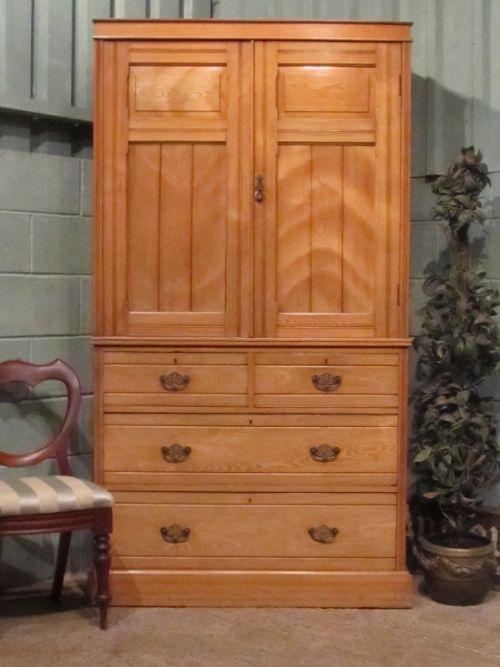 antique edwardian ash clothes linen press c1900 w71413010