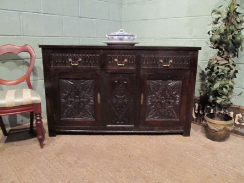 antique georgian country oak sideboard c1780 w7022511