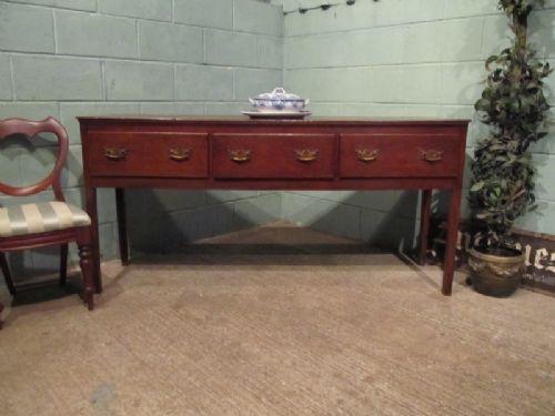 antique georgian country oak dresser base sideboard c1780 w6678512
