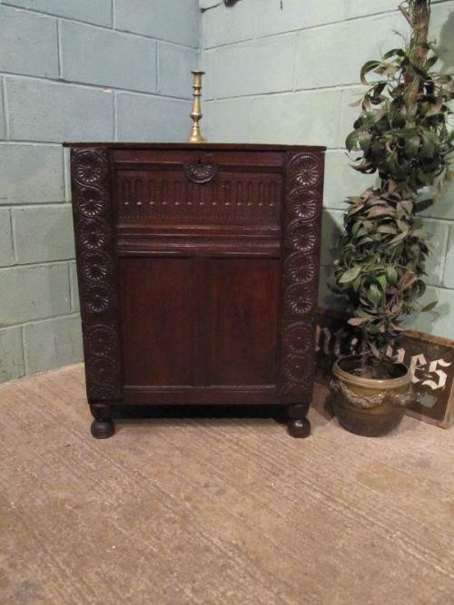 antique early georgian country oak box c1720 w7166511