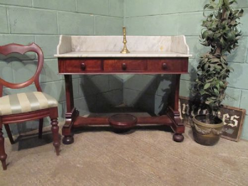 antique early victorian mahogany marble washstand c1840