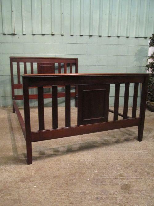 antique edwardian mahogany double bed c1900