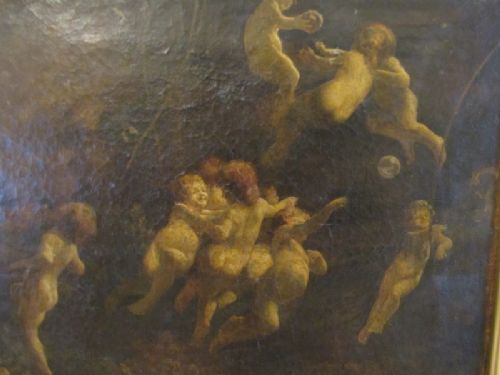 the water babies oil on canvas by arthur kynaston d1909