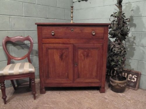 antique 19th century french provincial fruitwood cupboard c1880