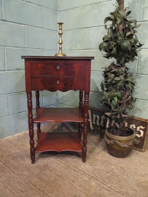 antique victorian mahogany work table c1880