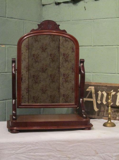 antique victorian mahogany toilet mirror c1880