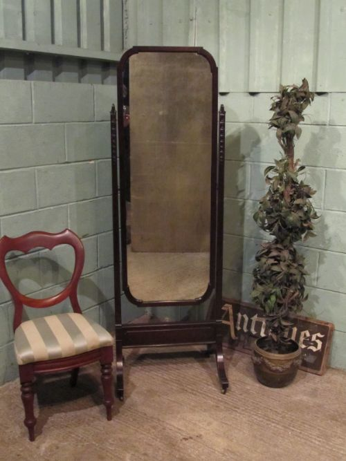 antique late 19th century cuban mahogany cheval mirror c1890
