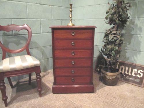 antique edwardian mahogany music filing cabinet c1900