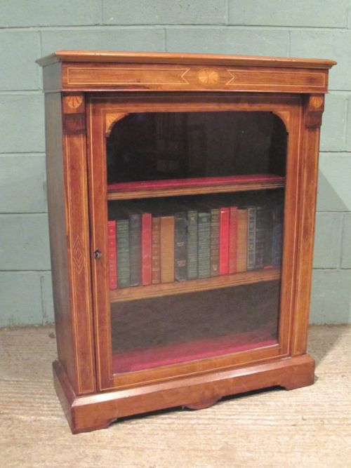antique late victorian rosewood inlaid pier cabinet c1890