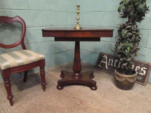 Antique rare regency burr elm teapoy table c1820 221836 for Teapoy table designs