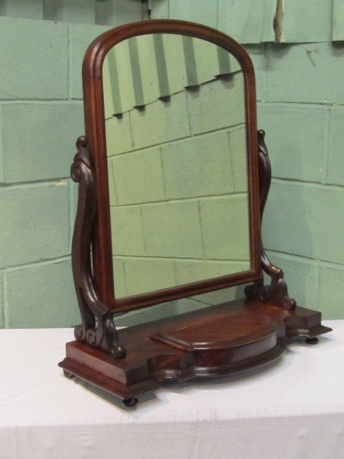 antique william 1v large mahogany toilet mirror c1830