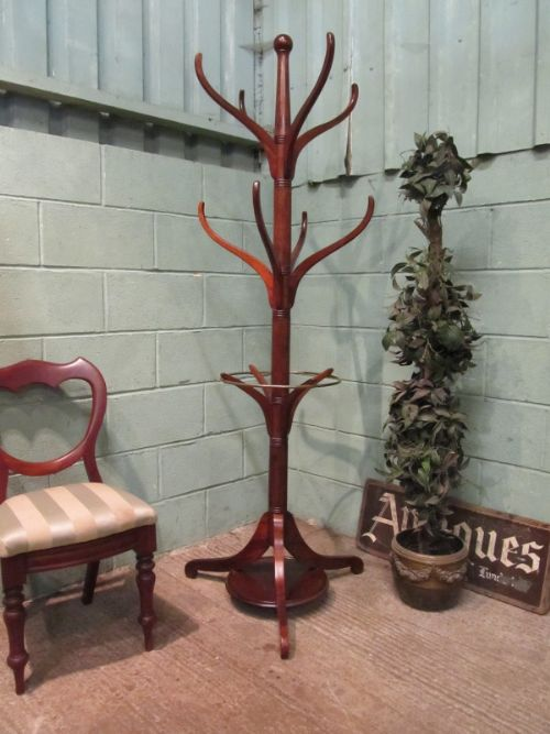 antique edwardian mahogany hall stand c1900