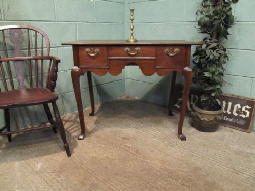 antique georgian 18th century oak lowboy c1780