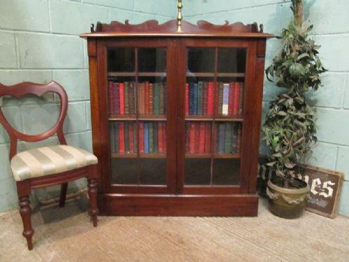 antique victorian mahogany astragal glazed bookcase c1880