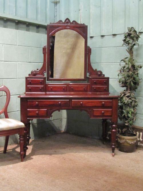 antique victorian mahogany dressing table c1880