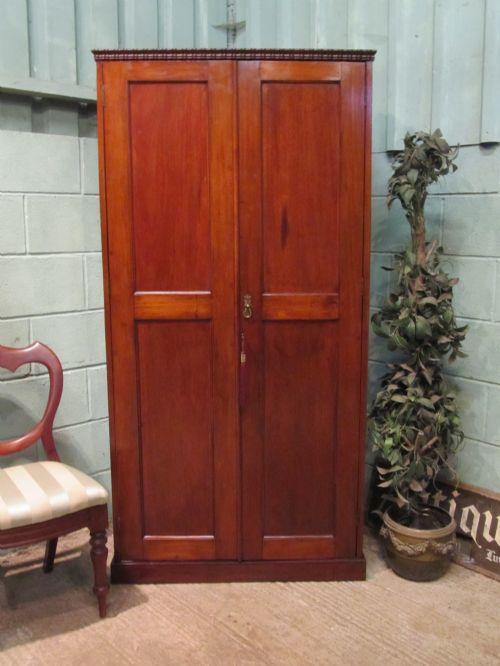 antique victorian mahogany hall robe cupboard c1860