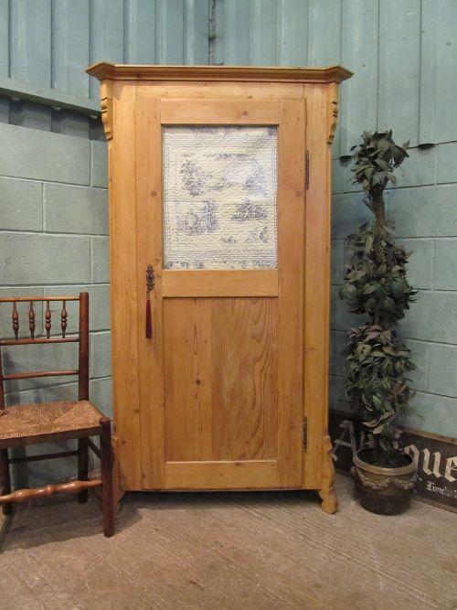 antique 19th century dutch pine larder or linen cupboard c1880