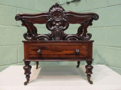 antique william 1v rosewood canterbury c1830