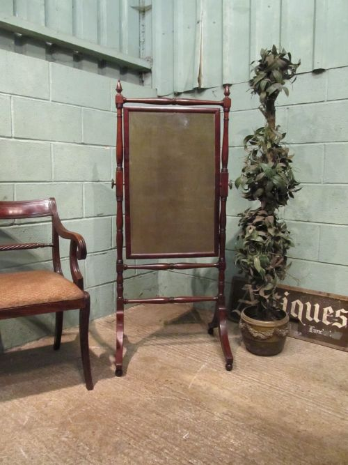 antique georgian regency mahogany cheval mirror c1820