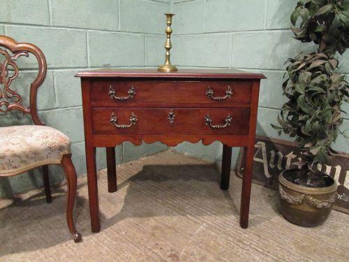 antique 18th century period mahogany lowboy c1780