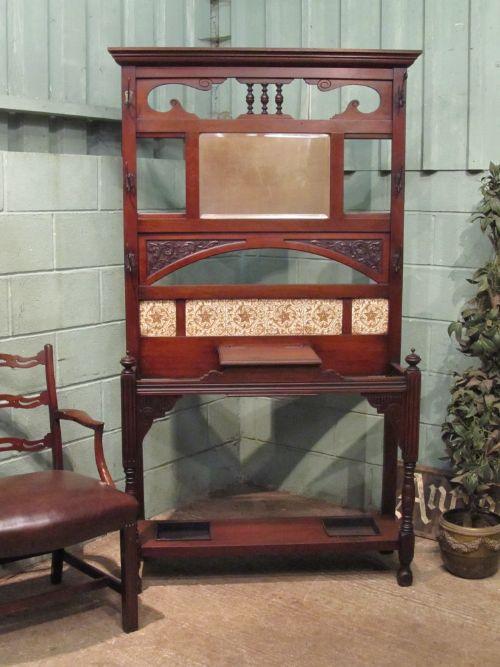 antique edwardian mahogany hallstand c1900