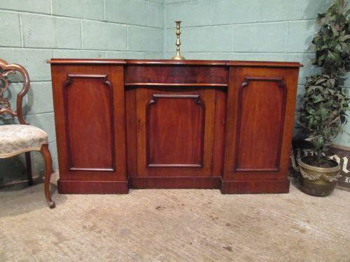 antique victorian mahogany breakfront sideboard c1880