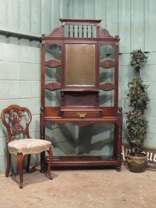 antique edwardian mahogany hall stand c1900