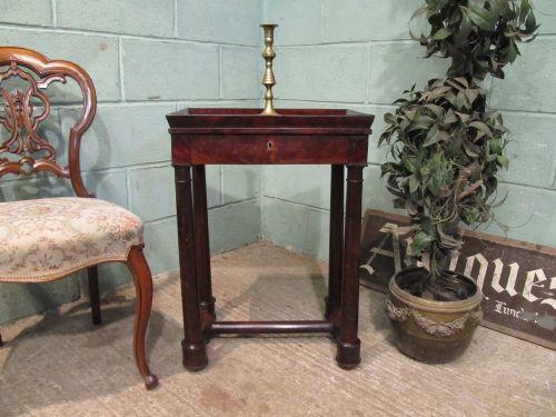 antique 19th century biedermeier cuban mahogany sewing work table c1880