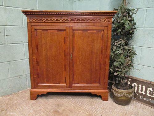 antique georgian oak mahogany cupboard c1780