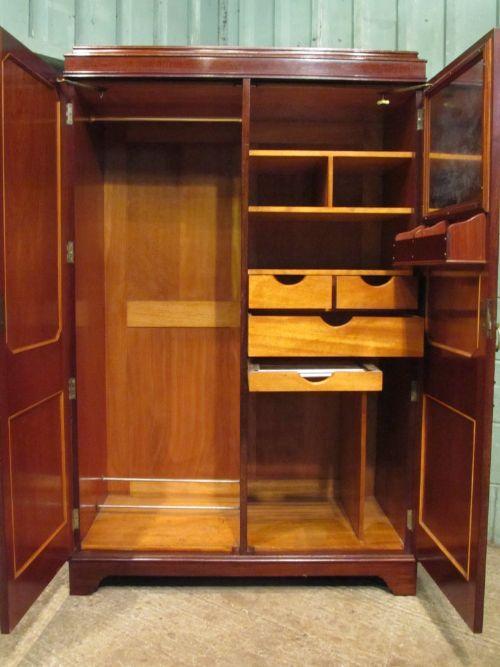 Antique Pair Edwardian Mahogany Ladies U0026 Gents Wardrobe Compactums C1900 |  276873 | Sellingantiques.co.uk