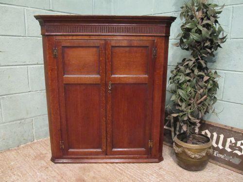 antique georgian oak corner cabinet c1780