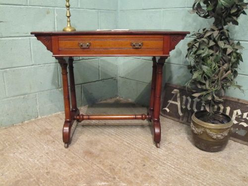 antique victorian mahogany writing table c1890